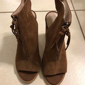 French connection Peep toe block heel
